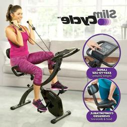 Slim Cycle 2-in-1 Exercise Bike, Health Fitness Stationary C