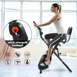 Folding Exercise Bicycle Bike Cardio Fitness Equipment Cycli